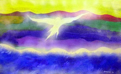 Bellissimo dipinto di Giuseppe, realizzato all'età di 9 anni